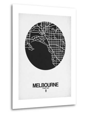 Melbourne Street Map Black on White