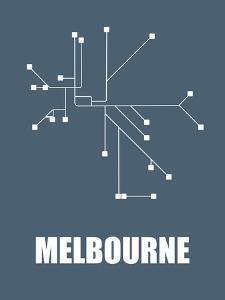 Melbourne Subway Map I by NaxArt