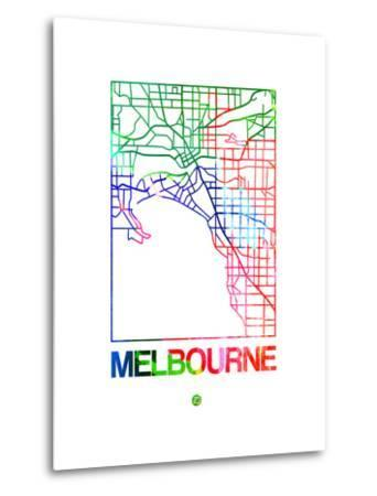 Melbourne Watercolor Street Map
