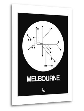 Melbourne White Subway Map