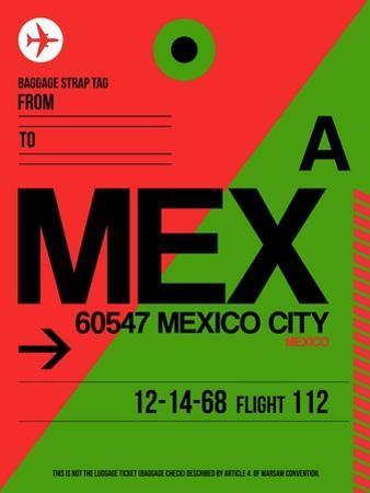 MEX Mexico City Luggage Tag 2 by NaxArt