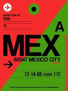 MEX Mexico City Luggage Tag 2 by NaxArt