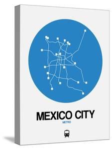 Mexico City Blue Subway Map by NaxArt