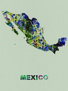 Mexico Color Splatter Map by NaxArt