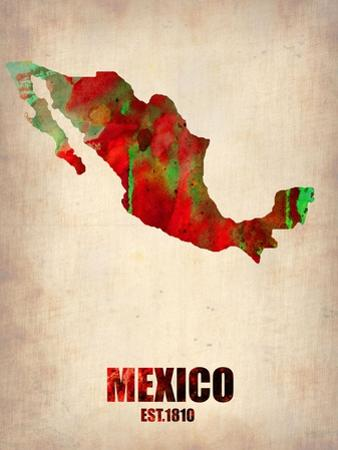 Mexico Watercolor Map by NaxArt