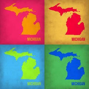 Michigan Pop Art Map 1 by NaxArt