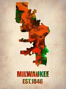 Milwaukee Watercolor Map by NaxArt