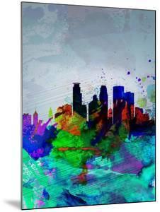 Minneapolis Watercolor Skyline by NaxArt