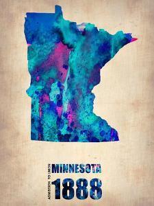 Minnesota Watercolor Map by NaxArt