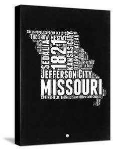 Missouri Black and White Map by NaxArt