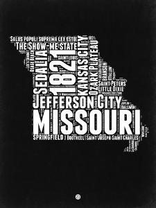 Missouri Black and White Map by NaxArt
