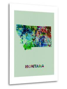 Montana Color Splatter Map by NaxArt