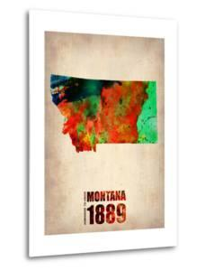 Montana Watercolor Map by NaxArt
