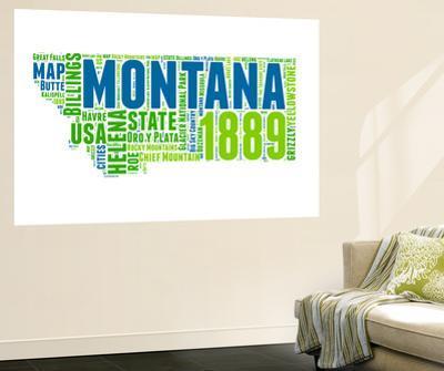 Montana Word Cloud Map