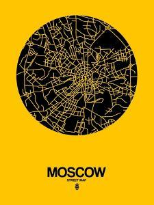 Moscow Street Map Yellow by NaxArt