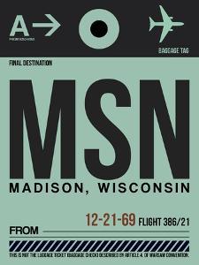 MSN Madison Luggage Tag I by NaxArt