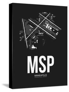 MSP Minneapolis Airport Black by NaxArt