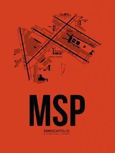 MSP Minneapolis Airport Orange by NaxArt