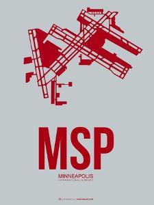 Msp Minneapolis Poster 3 by NaxArt