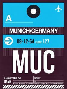 MUC Munich Luggage Tag 1 by NaxArt