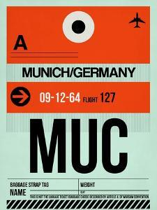 MUC Munich Luggage Tag 2 by NaxArt