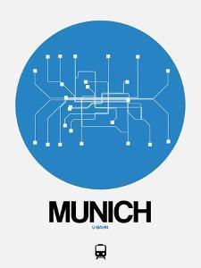 Munich Blue Subway Map by NaxArt