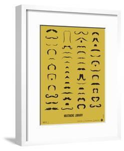 Mustache Library Poster by NaxArt