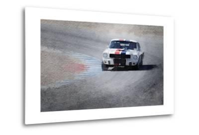 Mustang on Race Track Watercolor