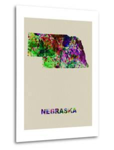 Nebraska Color Splatter Map by NaxArt