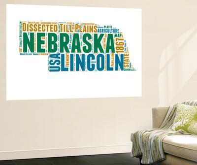Nebraska Word Cloud Map