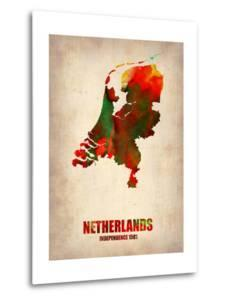 Netherlands Watercolor Map by NaxArt