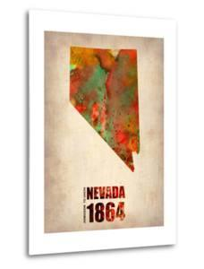Nevada Watercolor Map by NaxArt