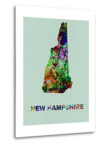 New Hampshire Color Splatter Map by NaxArt