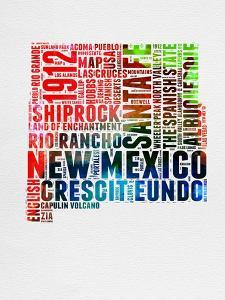 New Mexico Watercolor Word Cloud by NaxArt