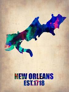 New Orleans Watercolor Map by NaxArt
