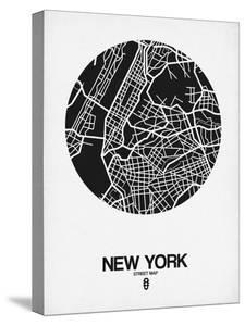 Maps of new york canvas artwork for sale posters and prints at new york street map black and whitenaxart malvernweather Images
