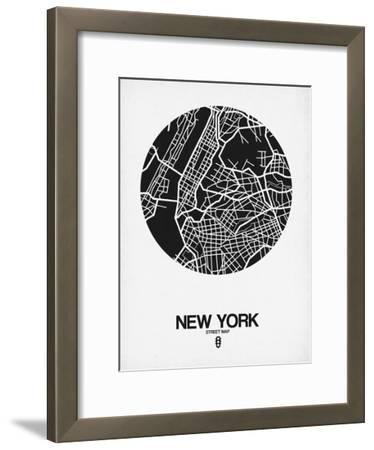 New York Street Map Black and White