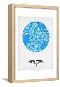 New York Street Map Blue by NaxArt