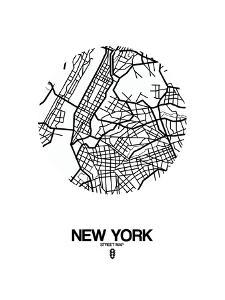 Beautiful maps of new york artwork for sale paintings and prints new york street map white malvernweather Choice Image