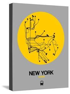 New York Yellow Subway Map by NaxArt
