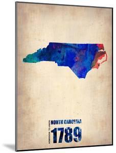 North Carolina Watercolor Map by NaxArt