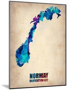 Norway Watercolor Poster by NaxArt