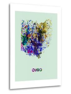 Ohio Color Splatter Map by NaxArt