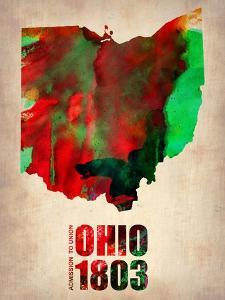 Ohio Watercolor Map by NaxArt