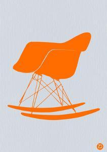 Orange Eames Rocking Chair by NaxArt