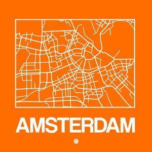 Orange Map of Amsterdam by NaxArt