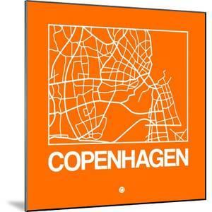 Orange Map of Copenhagen by NaxArt