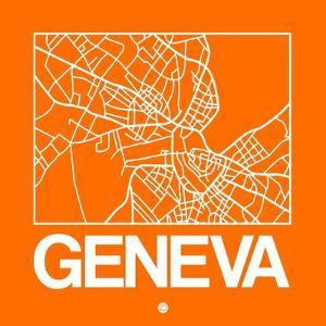 Orange Map of Geneva by NaxArt