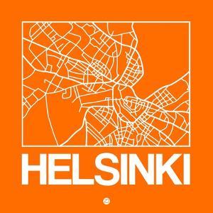 Orange Map of Helsinki by NaxArt