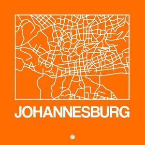 Orange Map of Johannesburg by NaxArt